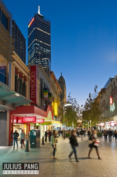 Hay St Mall for a Committee for Perth project.